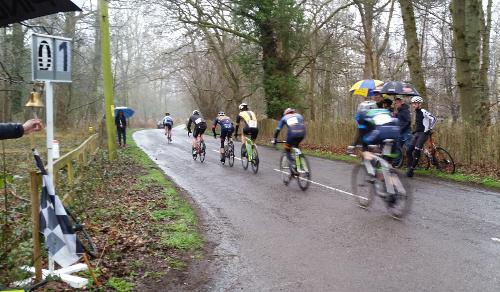 Riders chasing